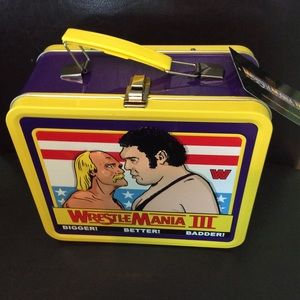 WWE WrestleMania Lunch Box Hulk Hogan Andre Giant